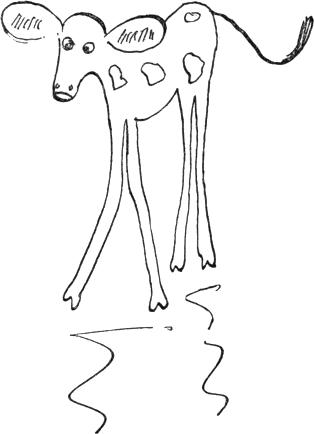 long-legged calf